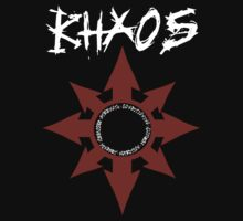 Khaos Logo (red and white) by ChaosCanine