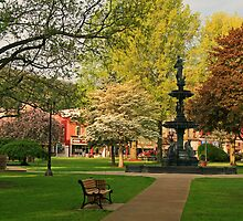 Springtime In Fountain Park Franklin PA by Geno Rugh