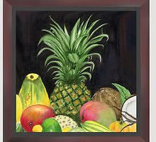 Tropical Pineapple & Fruitfriends by tatoguzman