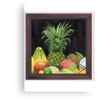 Tropical Pineapple & Fruitfriends Canvas Print