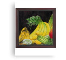 Crested Banana Joint Cluster Canvas Print