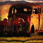 Rusty Car - Textured by Marilyn Harris