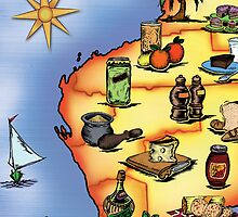 Western Australian Food Safari Map by robertemerald
