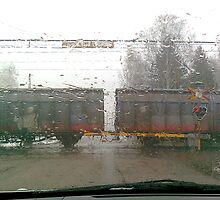 """Train in the Rain"" by Gabriella Nilsson"