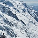Mont Blanc, from l'Auiguille du Midi, Chamonix. by physiognomic