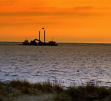 Dredging the Harbor by BarbL