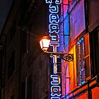 Neon Caffe Sign at Night (Rome, Italy) by Lori  Heiss