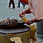 Old Man Selling Chestnuts (Rome, Italy) by Lori  Heiss