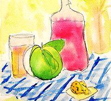 Still Life with Rhubarb Vodka by creativeyear