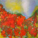 Poppies. 30 x 30. Acrylic Painting. by csoccio100