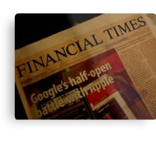 FINANCIAL TIMES Metal Print