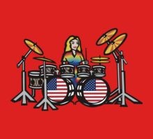 Female Drummer by fineline