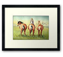 Pony Tails Framed Print
