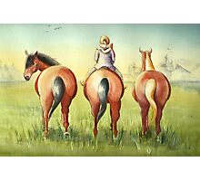 Pony Tails Photographic Print