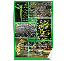 psalm 86:1-7 collage Poster