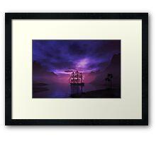 Clipper Ship at Sunset Framed Print
