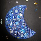 Blue Moon Jewelry Mosaic by ingridthecrafty