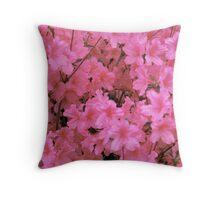 PinkAzalea Throw Pillow