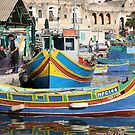 The beautiful fishing village of Marsaxlokk, Malta by DJ-Stotty