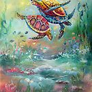 ohhh.. to swim with the Turtles by Robin Pushe'e