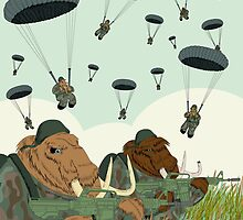 mammoth paratroopers by Marta Tesoro