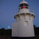Full Moon at Fingal Head Lighthouse by Graham Mewburn