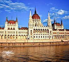 Hungarian Parliament Building, Budapest by Wanda Dumas