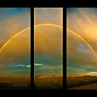 Double Rainbow Triptych by Sandra Parlow