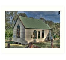 St Stephens Anglican Church, Hargraves, NSW, Australia  Art Print