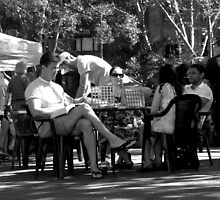 Garden Games @ Kings Cross Markets.  A Black & White Moment by Janie. D