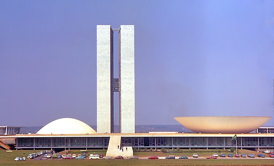 Parliament Buildings, Brasilia, Brazil, 1972. by johnrf