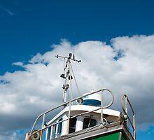 Fishing vessel, CY45 Heather Belle, Pot & Trap fishing, dock side Mallaig by Hugh McKean