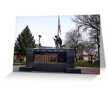 Veteran's Memorial - Depot Park Greeting Card