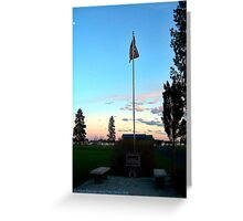 Old Glory Dusk (Veteran's Memorial) Greeting Card