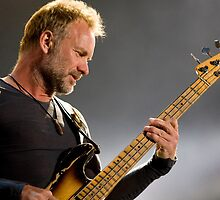 Sting the bass player and former frontman of the Police by benedictwells