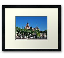 Judge's Chapel, Cervantes Plaza, Alcala de Henares, Madrid, Spain Framed Print