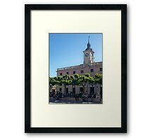 City Hall, Cervantes Plaza, Alcala de Henares, Madrid, Spain Framed Print