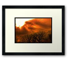 Burnt Sunset Framed Print