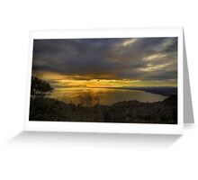 As the sun sets......... Greeting Card