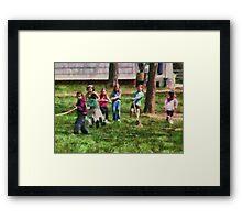 Children - Tug of War  Framed Print