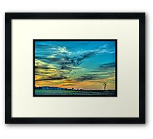 May Sunset in North Dakota Framed Print