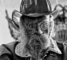 Old Fireman by Jeffrey  Sinnock