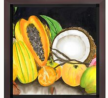 Dry Coconut & Juicy Friend Fruits by tatoguzman