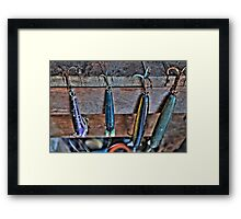 Old Fishing Lures Framed Print
