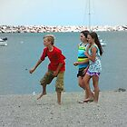 Just kids hanging at the beach ©  by Dawn M. Becker