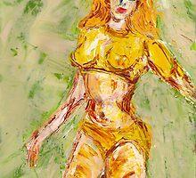yellow bikini, 2011 by Thelma Van Rensburg
