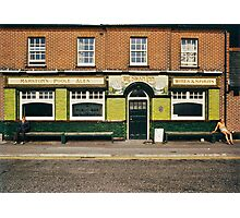 Waiting for the pub to open, UK,1980s Photographic Print