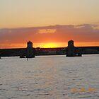 Hanover Street Bridge Sunset #119 by steeltrap