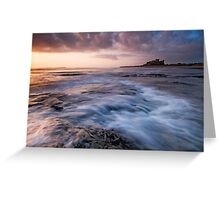 First Light on Bamburgh Castle Greeting Card