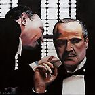 "Legendary ""Godfather"" 61x46cm oil on canvas by Arts Albach"